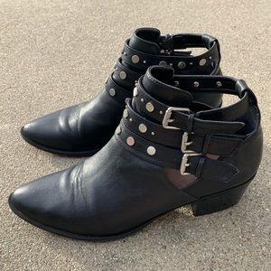 Sam Edelman leather studded ankle boots